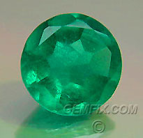 colombian green round emerald