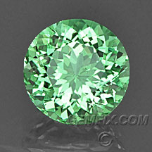 mint green garnet Merelani round