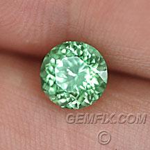 merelani mint green round garnet