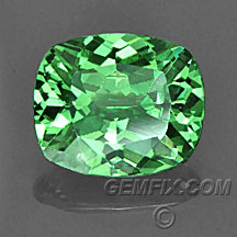 cushion green tsavorite garnet