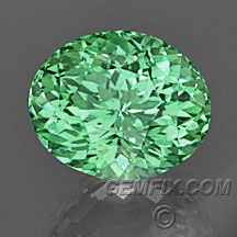 Neon Green merelani garnet oval