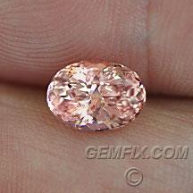 peach pink oval garnet mahenge