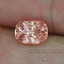 cushion peach pink pad color mahenge garnet