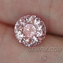 pink peach round mahenge garnet