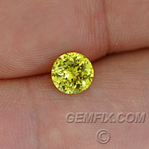 yellow grossularite garnet