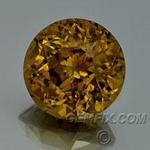 golden mali garnet round