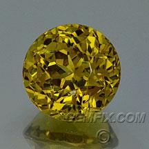 grossular golden garnet round