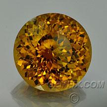 large golden round garnet mali