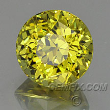 yellow green round garnet
