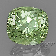green garnet cushion