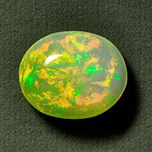 orange green ethiopian opal