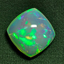 cushion blue green opal crystal