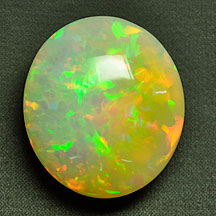 large multicolor opal oval