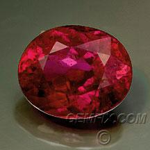 unheated ruby oval