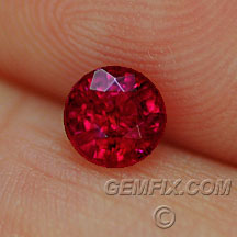 natural red ruby round
