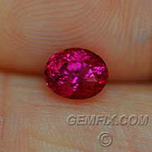red pink ruby oval
