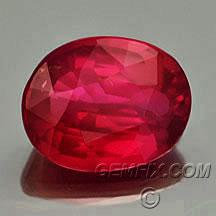 Sri Lanka oval certified ruby