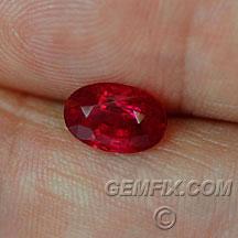 Burma red Ruby oval
