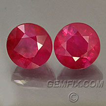 round ruby pair from Burma
