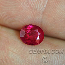 large burmese oval ruby