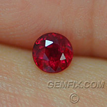 red ruby round