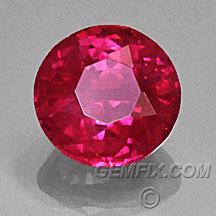 round burma ruby