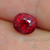 pigeon blood oval ruby