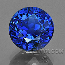royal blue round sapphire