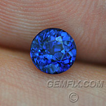 round sapphire royal blue color