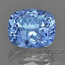 ceylon blue sapphire cushion