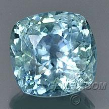 large cushion blue Montana Sapphire