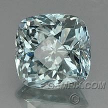 cushion silver green blue montana sapphire