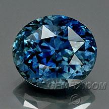 Montana Sapphire intense blue oval