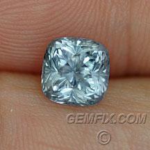silver blue cushion montana sapphire