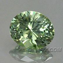 green untreated oval Montana Sapphire