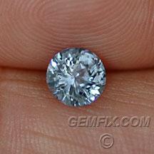 denim blue round Montana sapphire