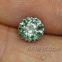 green untreated round Montana Sapphire
