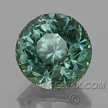 green silver large round unheated Montana Sapphire