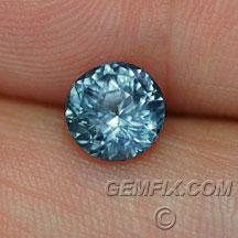 unheated round blue montana sapphire