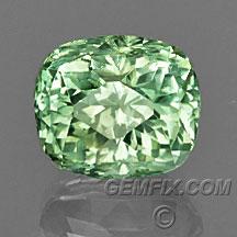 bright green Montana Sapphire untreated