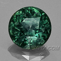large green round Montana Sapphire