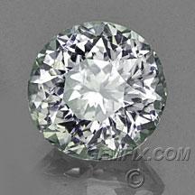 unheated round silver grey Montana Sapphire
