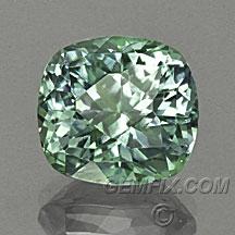 Montana sapphire cushion green blue
