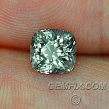 cushion Montana Sapphire green silver