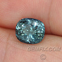 Montana Sapphire large cushion blue