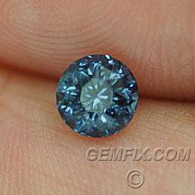 round deep blue Montana Sapphire