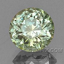 round Montana Sapphire green yellow