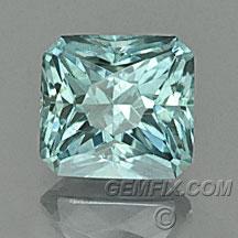Montana Sapphire green blue radiant