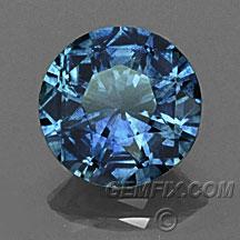 deep blue round Montana Sapphire
