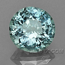 large round unheated Montana Sapphire